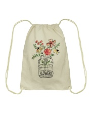 I Must Have Flowers Always And Always Hippie  Drawstring Bag thumbnail