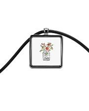 I Must Have Flowers Always And Always Hippie  Cord Rectangle Necklace thumbnail