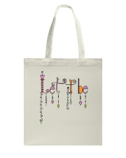 Let It Be Music Hippie Tote Bag thumbnail