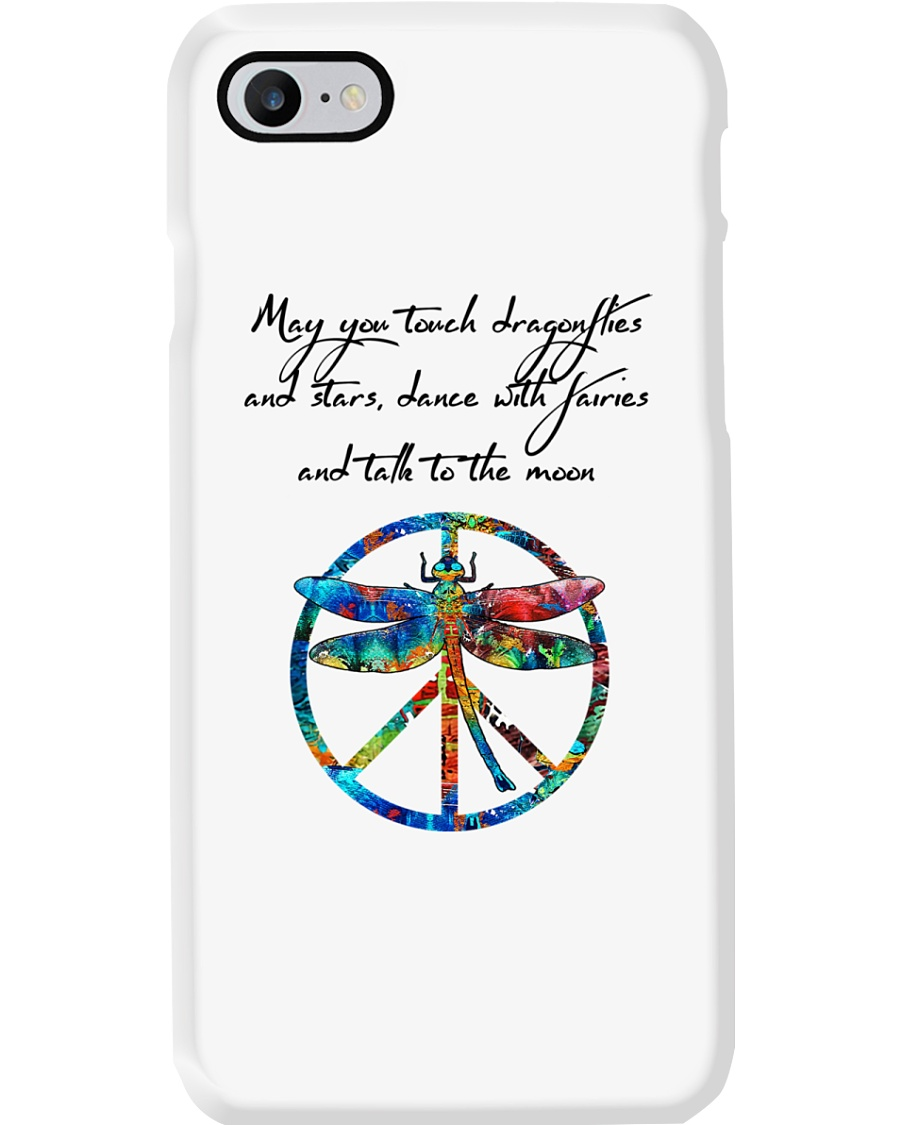 May You Touch Dragonflies And Stars Hippie  Phone Case