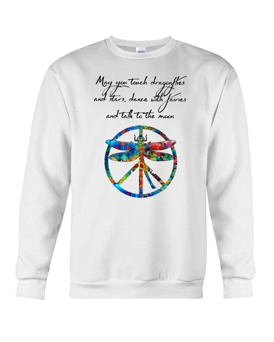 May You Touch Dragonflies And Stars Hippie  Crewneck Sweatshirt showcase