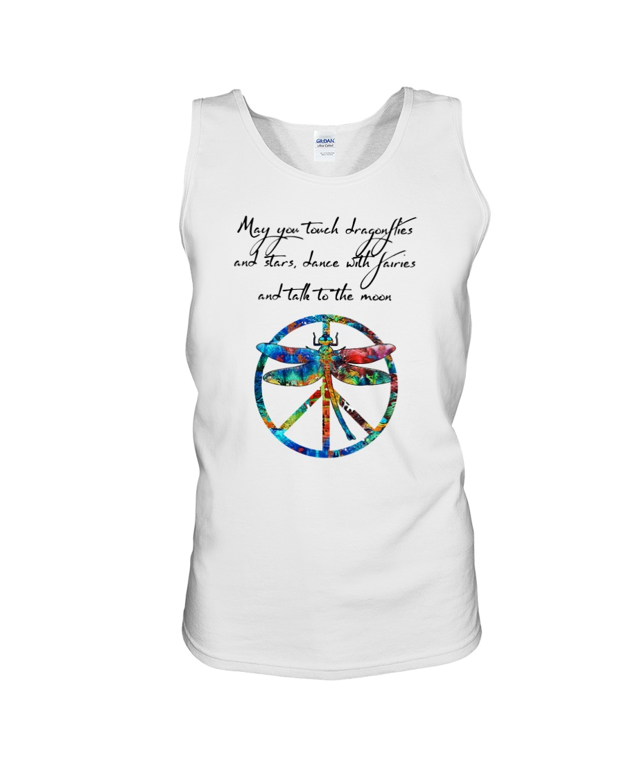 May You Touch Dragonflies And Stars Hippie  Unisex Tank showcase