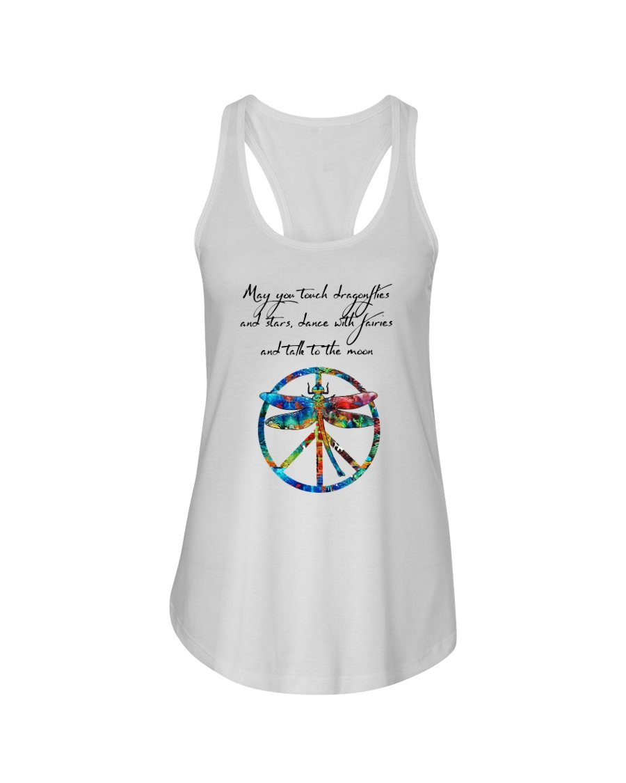May You Touch Dragonflies And Stars Hippie  Ladies Flowy Tank showcase