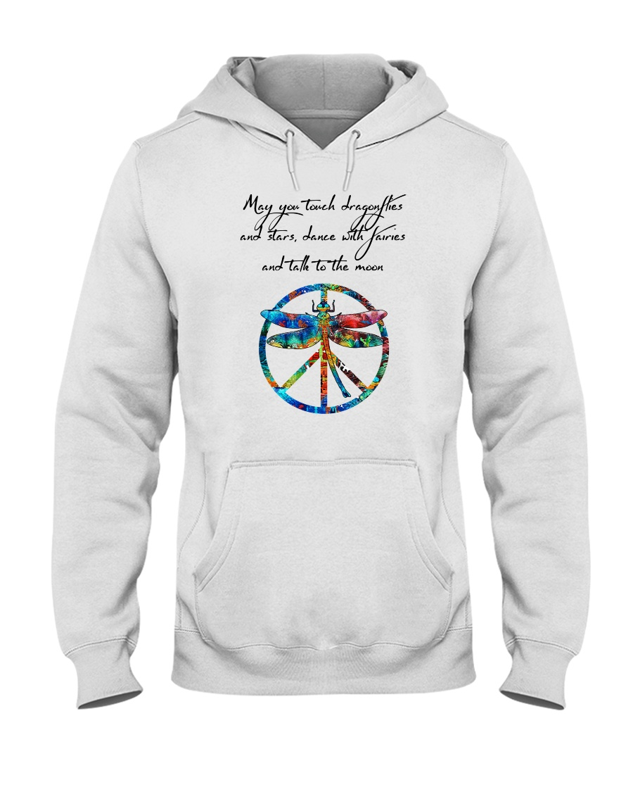 May You Touch Dragonflies And Stars Hippie  Hooded Sweatshirt showcase