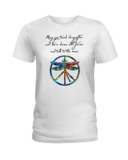 May You Touch Dragonflies And Stars Hippie  Ladies T-Shirt thumbnail