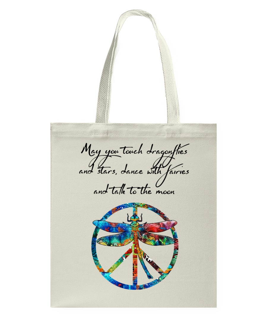 May You Touch Dragonflies And Stars Hippie  Tote Bag