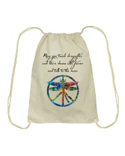 May You Touch Dragonflies And Stars Hippie  Drawstring Bag thumbnail
