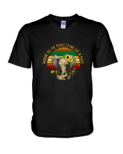 People Living Life In Peace 2 V-Neck T-Shirt thumbnail