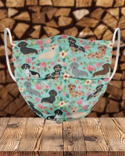 Dachshund Floral Re-Usable Mask Cloth face mask aos-face-mask-lifestyle-30