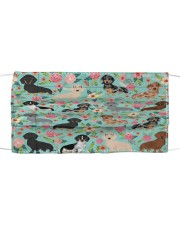 Dachshund Floral Re-Usable Mask Cloth face mask front