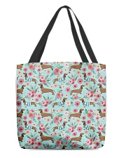 Doxie Flower Pattern All-over Tote thumbnail
