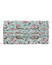 Doxie Flower Pattern Cloth face mask thumbnail