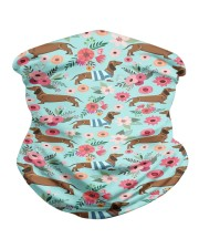 Doxie Flower Pattern Neck Gaiter thumbnail