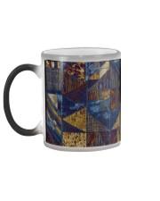 Abstract modern pattern mask Color Changing Mug color-changing-left