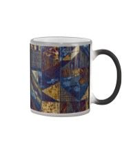 Abstract modern pattern mask Color Changing Mug color-changing-right