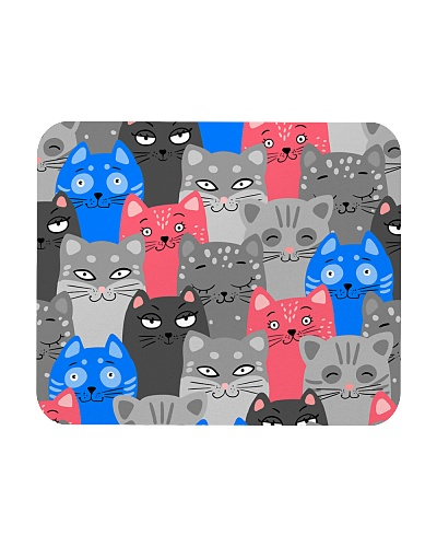 Cute cat seamless pattern mask - cat lover gifts