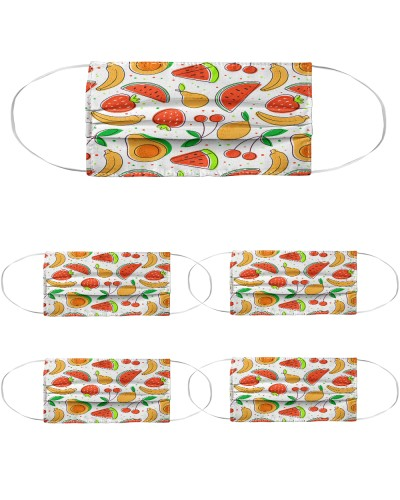Fruits pattern with avocado watermelon