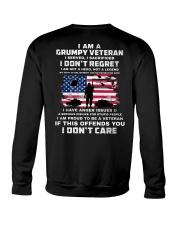 I Am A Grumpy Veteran I Served I Sacrificed  Crewneck Sweatshirt thumbnail