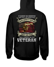 I Have Earned It With My Blood Sweat And Tears Hooded Sweatshirt back