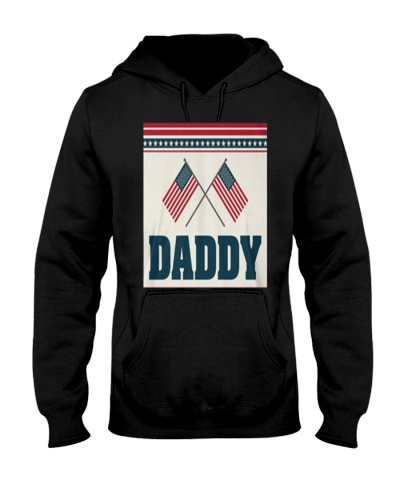 AMERICAN DADDY FLAG INDEPENDENCE DAY T S