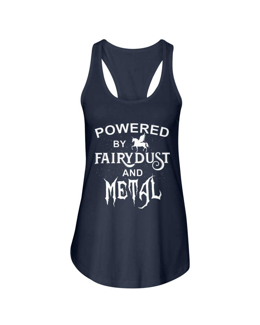 POWERED BY FAIRYDUST AND METAL Ladies Flowy Tank