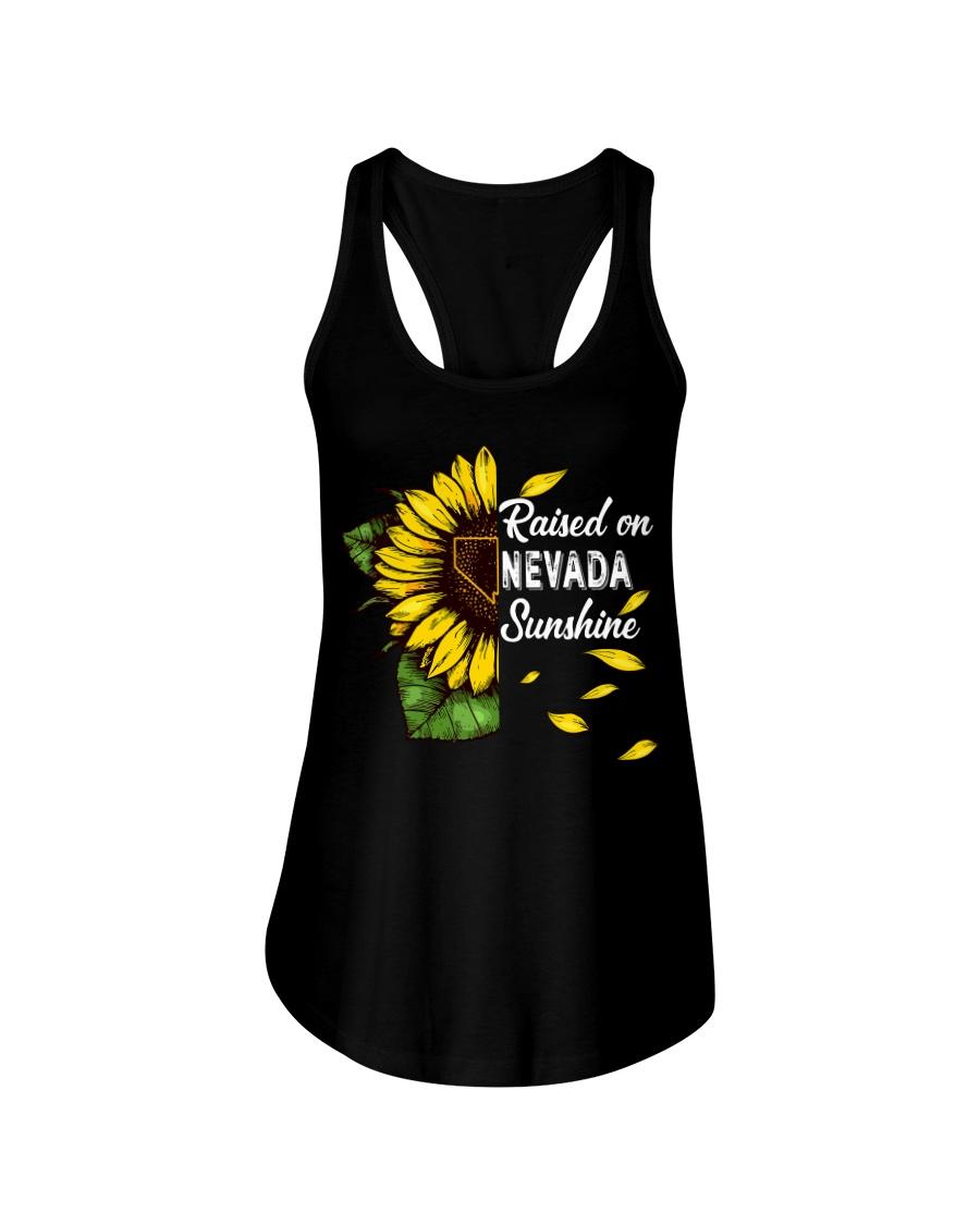 Raised on Nevada sunshine Ladies Flowy Tank
