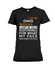 Ohio woman  i cant be held for Premium Fit Ladies Tee thumbnail