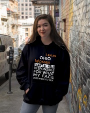 Ohio woman  i cant be held for Hooded Sweatshirt lifestyle-unisex-hoodie-front-1