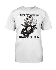 Jack Skellington underestimate me thatll shirt Classic T-Shirt front