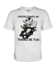 Jack Skellington underestimate me thatll shirt V-Neck T-Shirt thumbnail