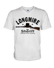 Longmire for sheriff absaroka county wyoming shirt V-Neck T-Shirt thumbnail
