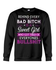 Behind every bad bitch is a sweet youth tee Crewneck Sweatshirt thumbnail