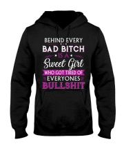 Behind every bad bitch is a sweet youth tee Hooded Sweatshirt thumbnail