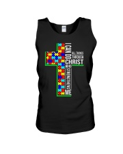 I can do all things through who strengthens shirt Unisex Tank tile