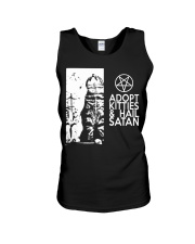 Adopt Kitties and Hail Satan shirt Unisex Tank thumbnail