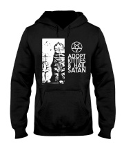 Adopt Kitties and Hail Satan shirt Hooded Sweatshirt thumbnail