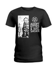 Adopt Kitties and Hail Satan shirt Ladies T-Shirt thumbnail