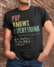 Pop For Grandpa Pop Knows Everything Classic T-Shirt apparel-classic-tshirt-lifestyle-26