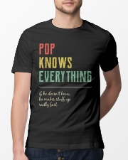 Pop For Grandpa Pop Knows Everything Classic T-Shirt lifestyle-mens-crewneck-front-13