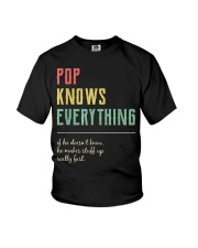 Pop For Grandpa Pop Knows Everything Youth T-Shirt thumbnail