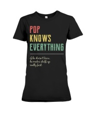 Pop For Grandpa Pop Knows Everything Premium Fit Ladies Tee thumbnail