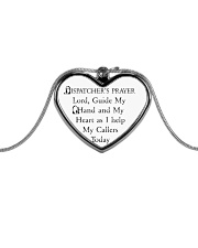 Dispatcher's prayer Metallic Heart Necklace front