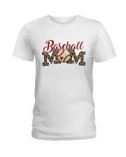 Baseball Mom Ladies T-Shirt front