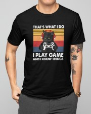I Play Game And I Know Things Classic T-Shirt apparel-classic-tshirt-lifestyle-front-164