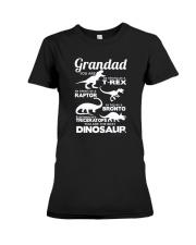 Grandad Dinosaur Premium Fit Ladies Tee tile