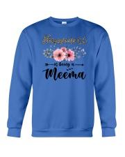 Happiness Is Being A Meema Crewneck Sweatshirt thumbnail