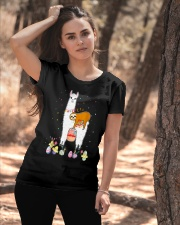 Llama And Sloths Easter Ladies T-Shirt apparel-ladies-t-shirt-lifestyle-06