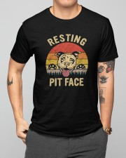 Resting Pit Face Classic T-Shirt apparel-classic-tshirt-lifestyle-front-164