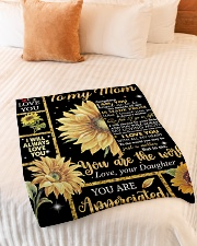 "Mother's Day Gift 2020 - To my Mom Small Fleece Blanket - 30"" x 40"" aos-coral-fleece-blanket-30x40-lifestyle-front-01"