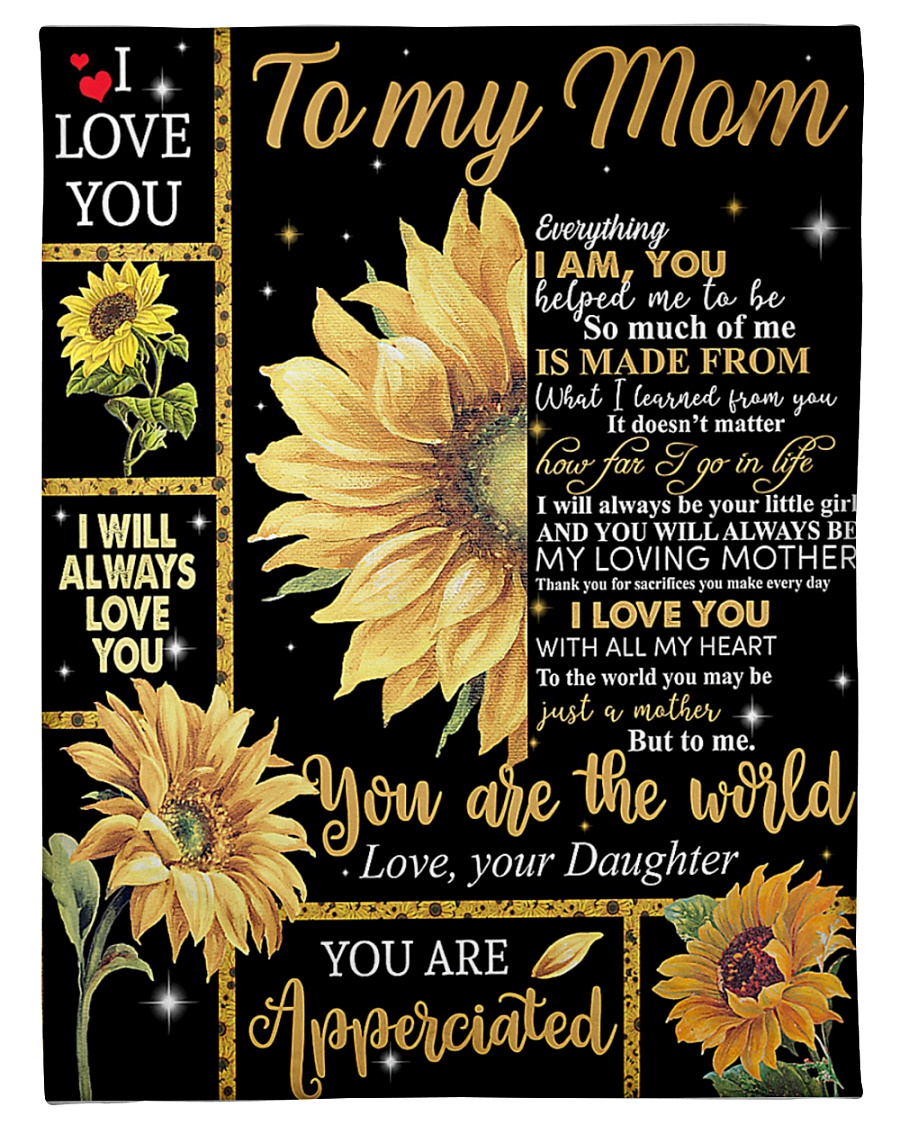 "Mother's Day Gift 2020 - To my Mom Small Fleece Blanket - 30"" x 40"""